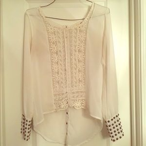 Naughty & Nice Studded Cuff Blouse